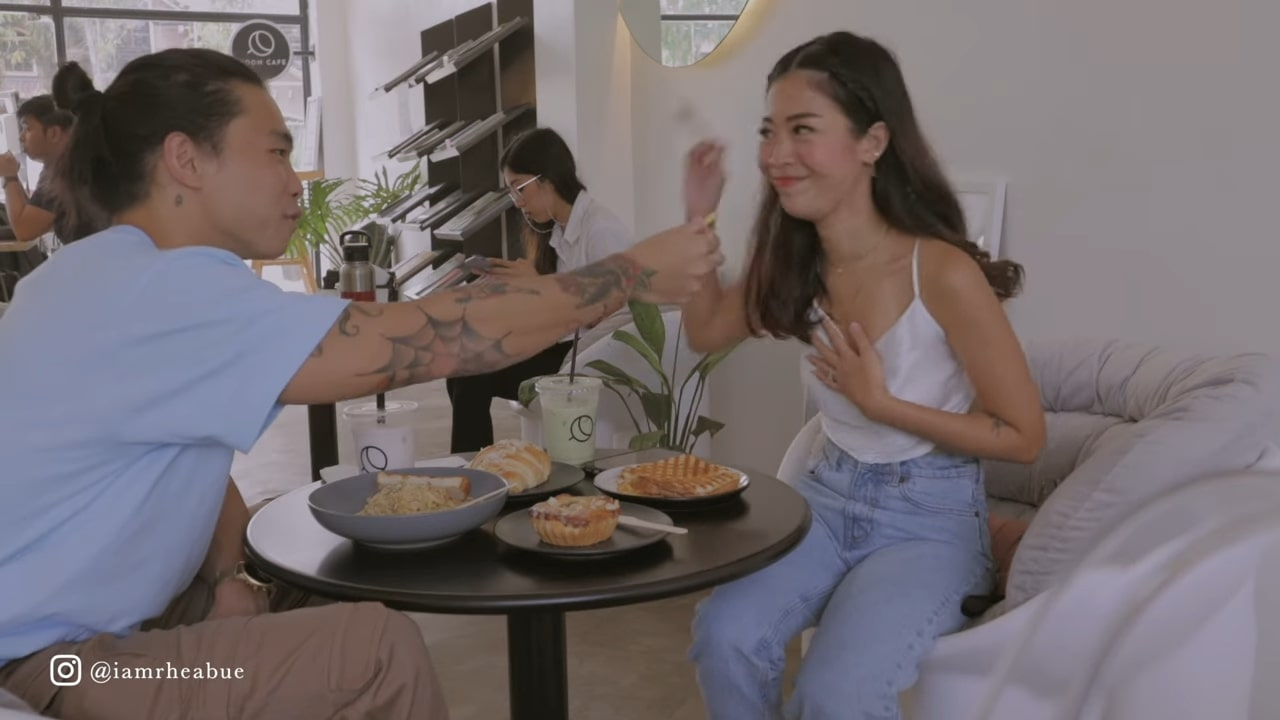 Minimalist cafe: Jeff Ong and Rhea Bue in Moon Cafe in Pampanga