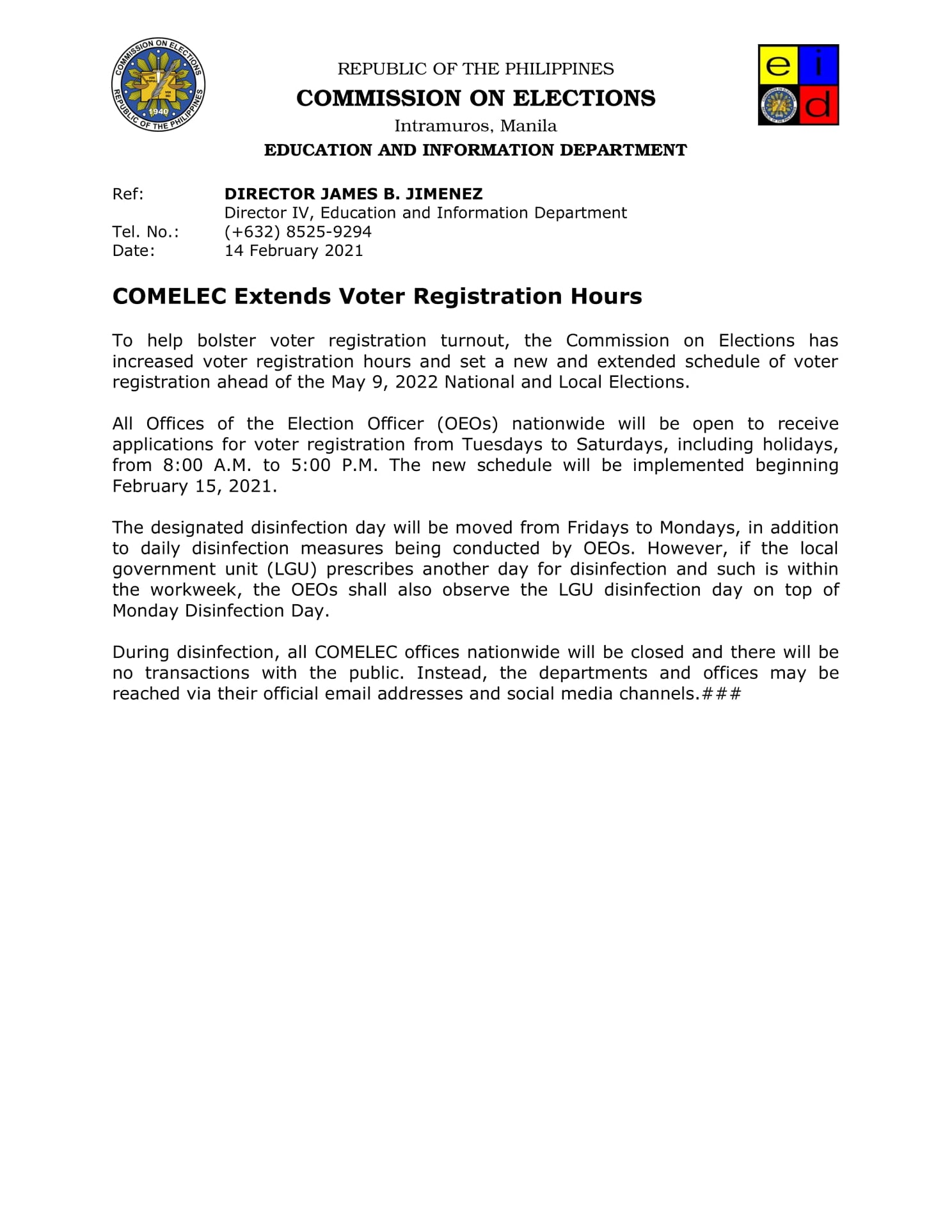 comelec extends voting hours