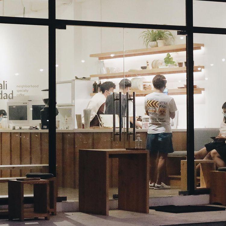 Minimalist cafe: exterior shot of Kalidad Coffee in Pampanga