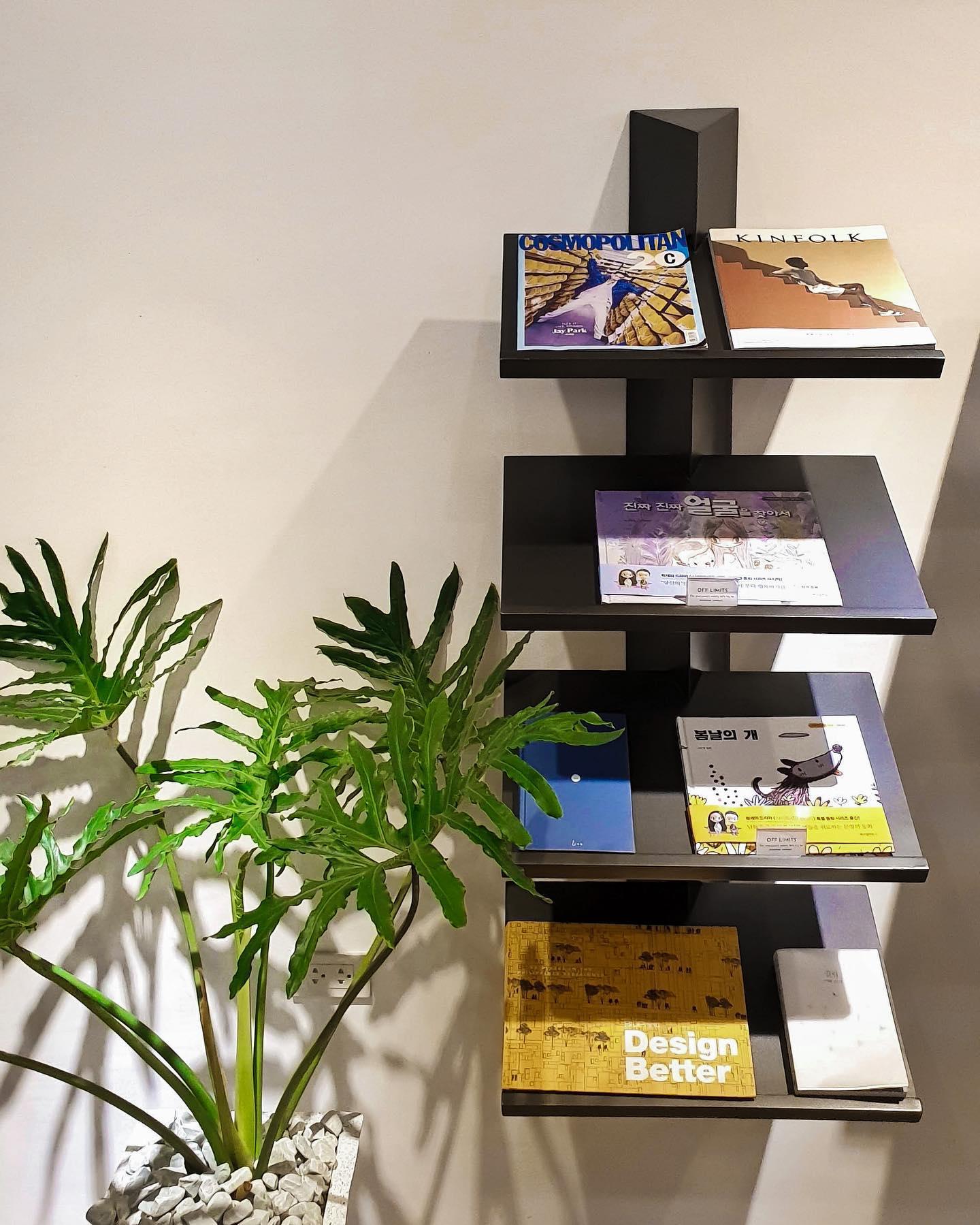 Minimalist cafe: Korean magazines at Moon Cafe in Pampanga