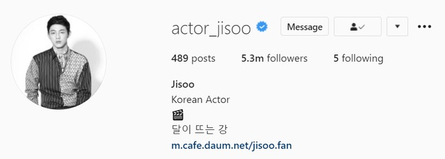 ji soo actor instagram account