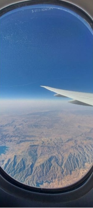 Travel in the new normal: View from airplane window