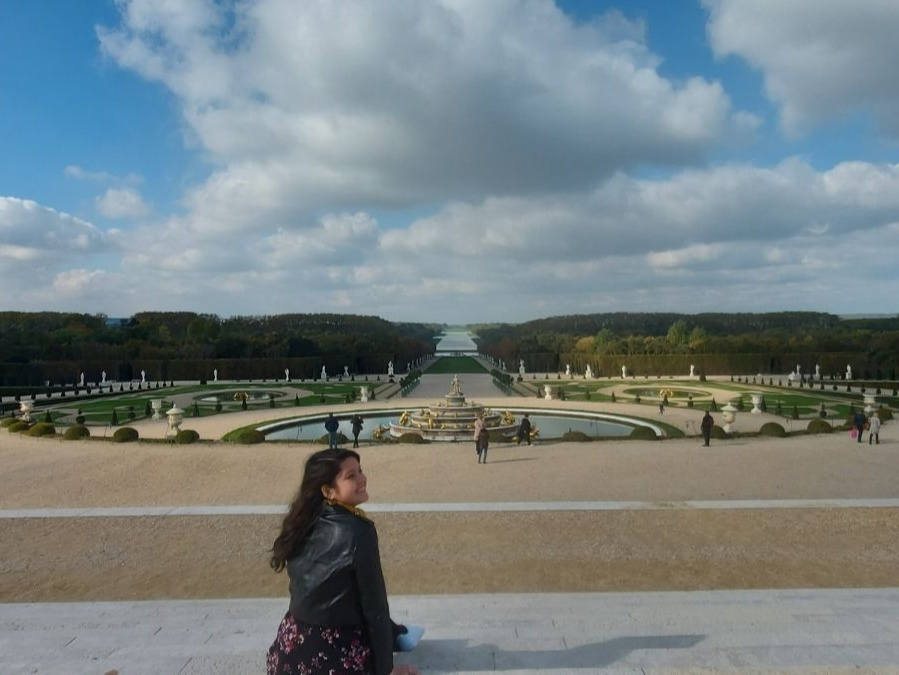 Travel in the new normal: Dana at The Palace of Versailles (garden)
