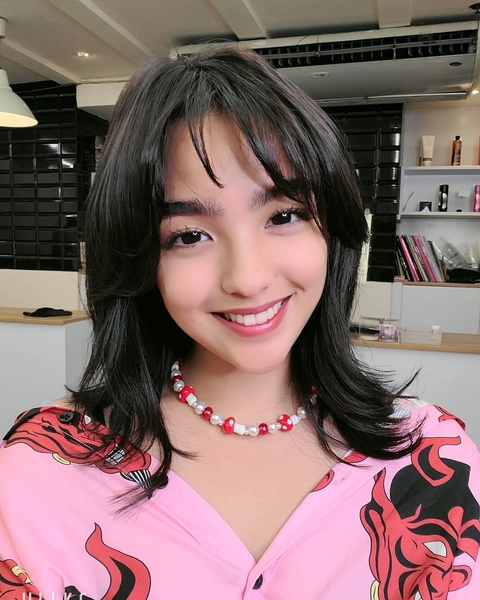 Andrea Brillantes with her new haircut