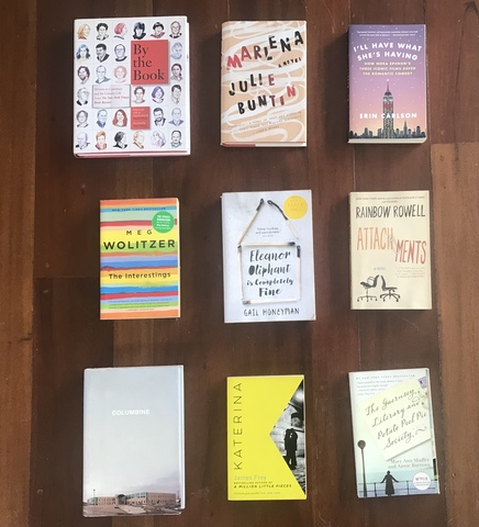 One Pinay talks about how reading books helped her mental health during the pandemic: flatlay of Sandra Pineda's book collection