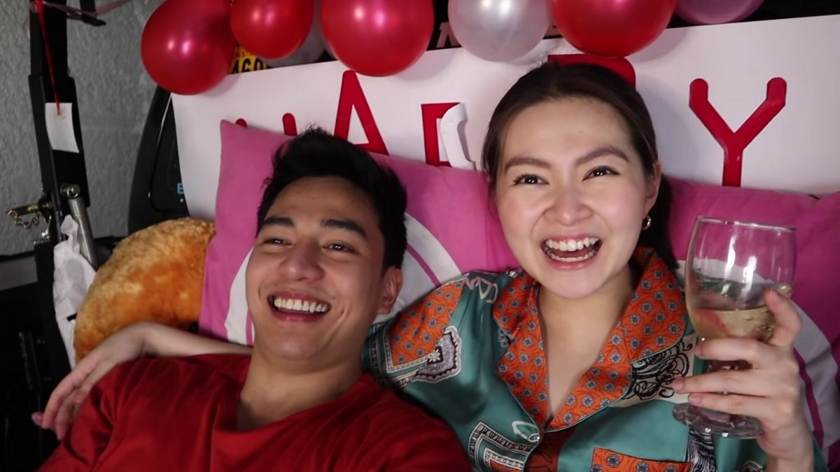 Barbie Forteza and Jak Roberto Valentine's date 2021: watching  a movie and enjoying wine