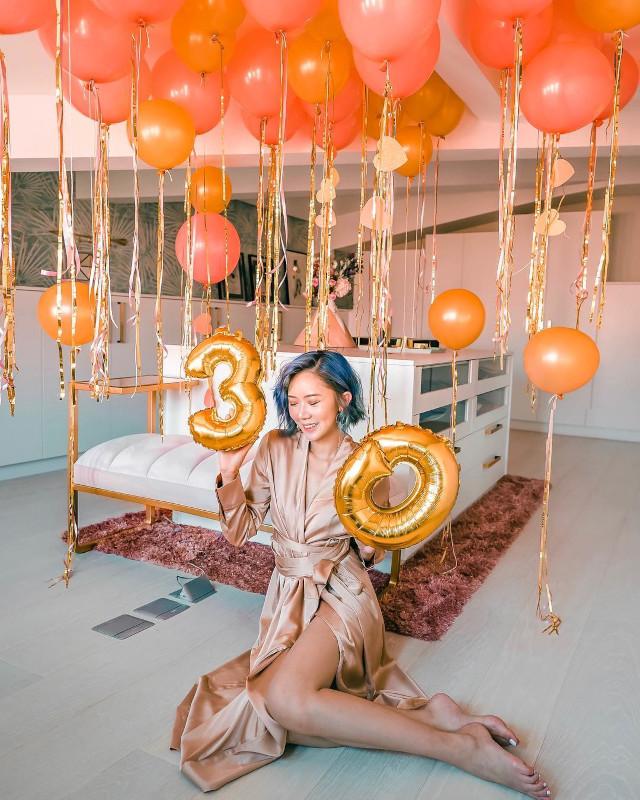 Camille Co celebrating 30th birthday.