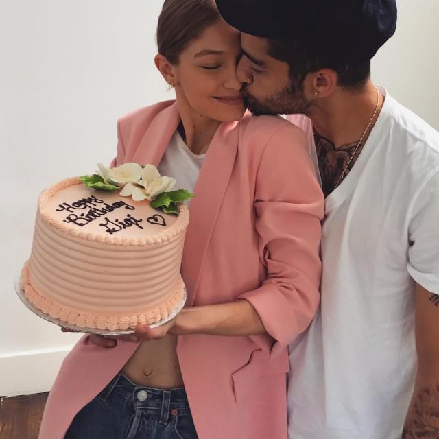 Gigi Hadid celebrating birthday with Zayn Malik.