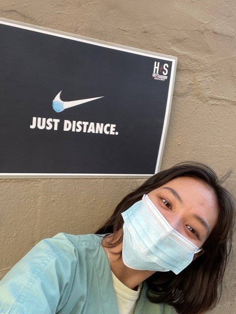 Grey's Anatomy background actor: Laureen Garcia on set