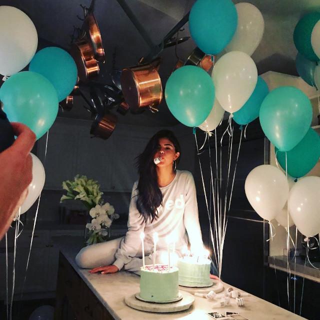 Selena Gomez birthday pose