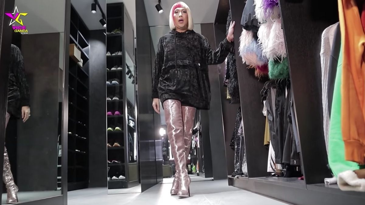 Vice Ganda's shoe collection: Christian Louboutin Sequin Thigh-High Boots