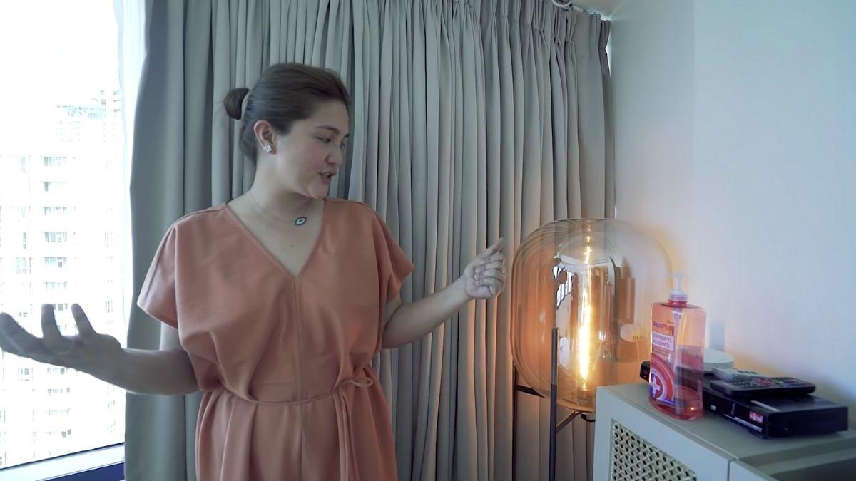 Dimples Romana's condo tour: lamp