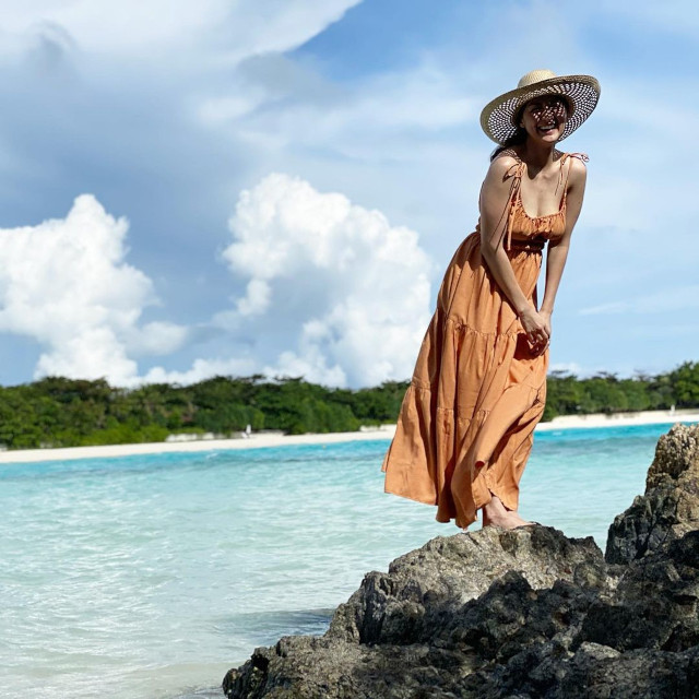 Marian Rivera wearing a maxi dress.