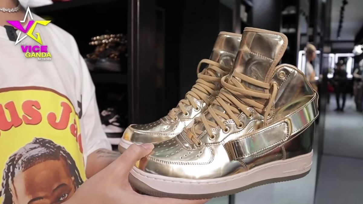 Vice Ganda sneaker collection: Nike Air Force 1 High iD in gold
