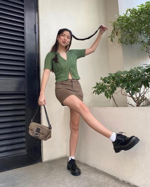 Bianca Gan wearing chunky platform shoes