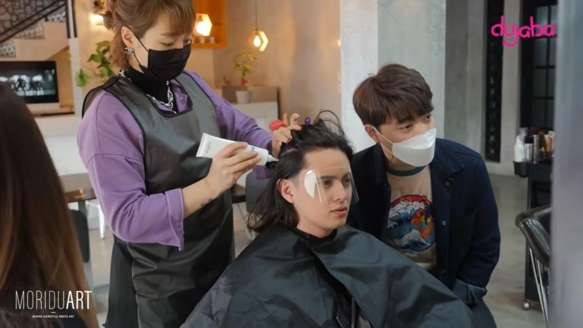 James Reid get a Korean hair makeover