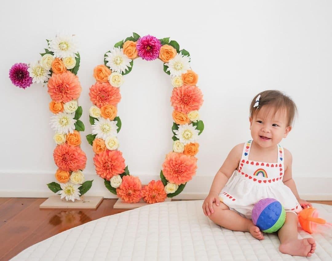 Dahlia Amélie at ten months