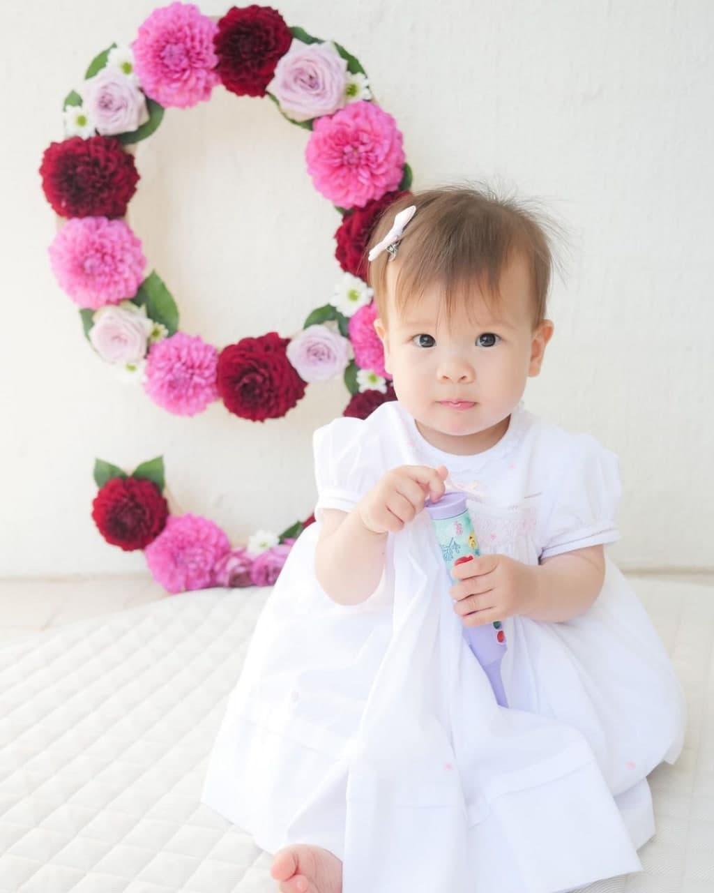 Dahlia Amélie at nine months