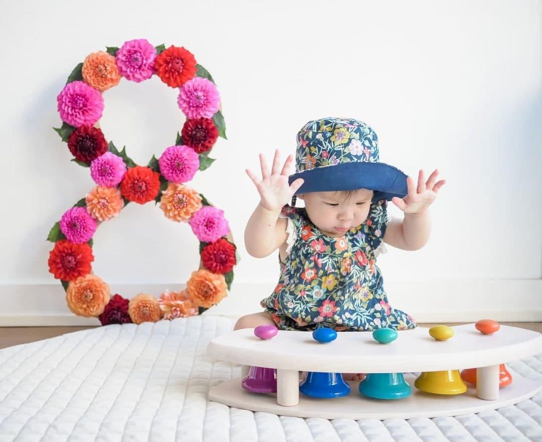 Dahlia Amélie at eight months