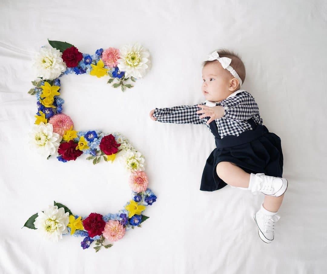 Dahlia Amélie at five months
