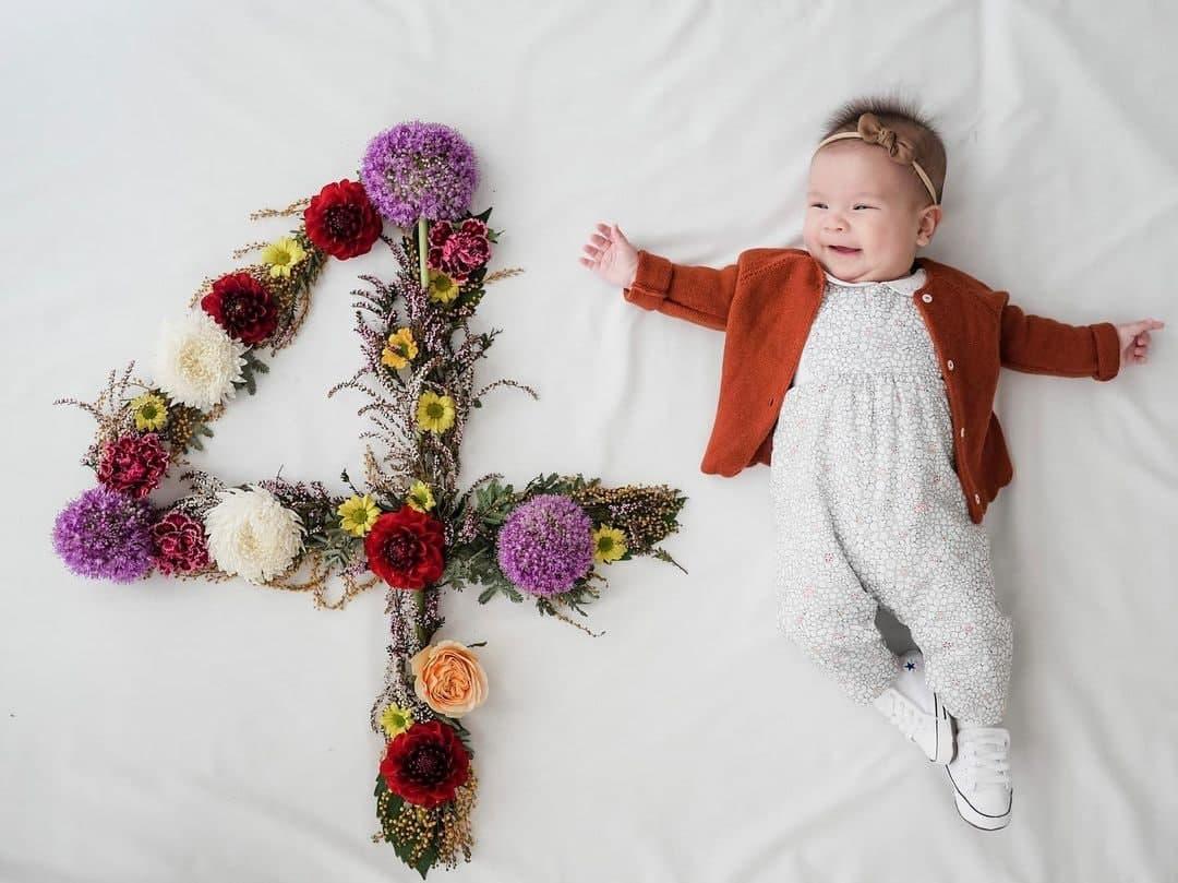 Dahlia Amélie at four months