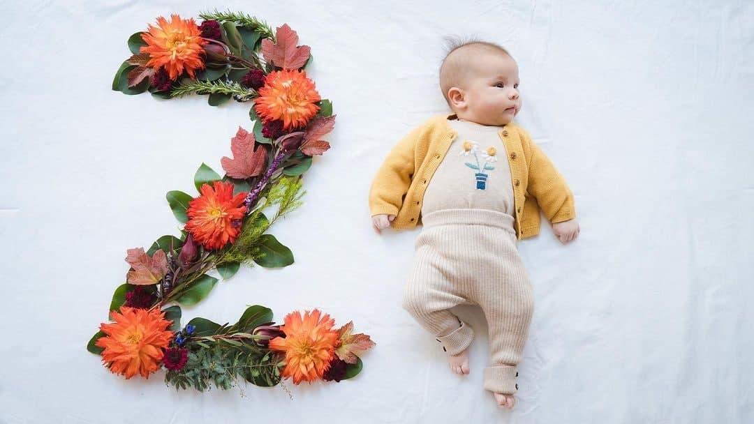 Dahlia Amélie at two months