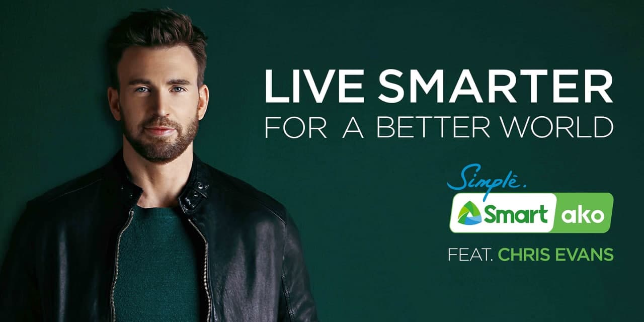 Chris Evans as the newest brand ambassador for Smart Philippines