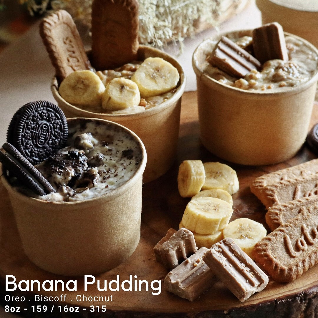Baked desserts by Cocoa & Co. - banana pudding