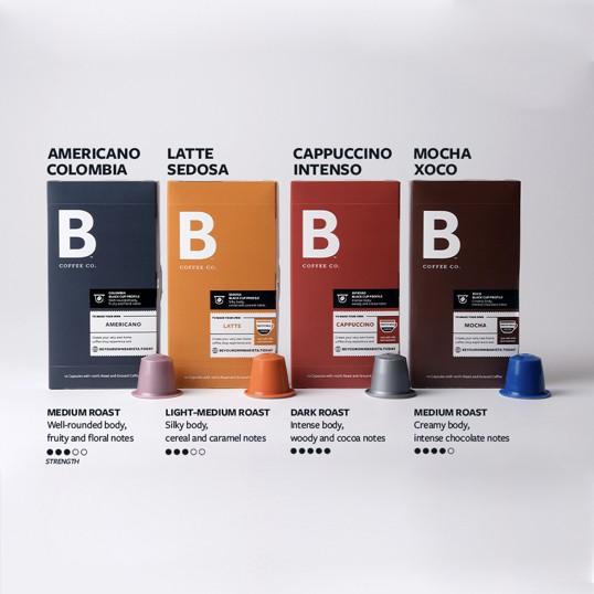 B Coffee Co. Freshman Capsule Flavors
