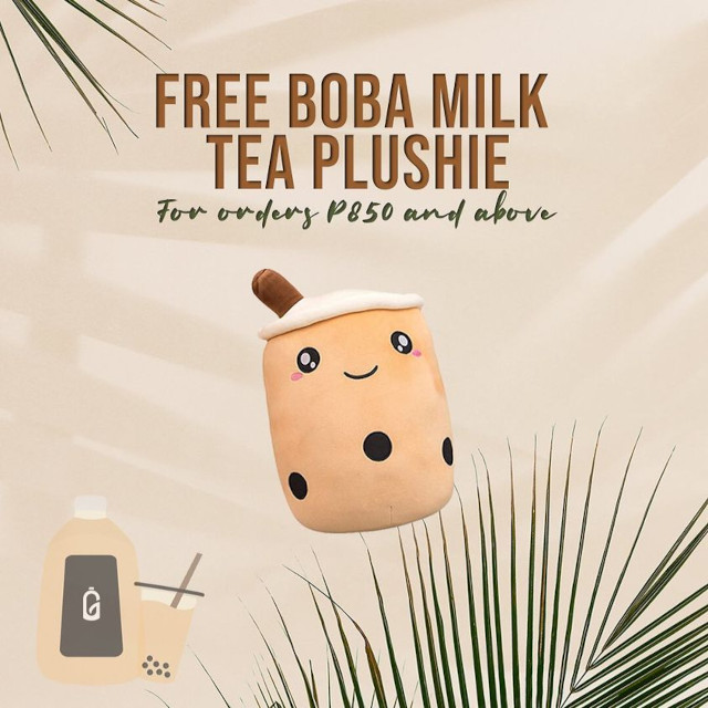 Gallontea milk tea pillow promo