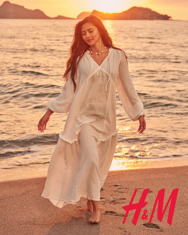 Kim Chiu H&M Philippines: white linen dress