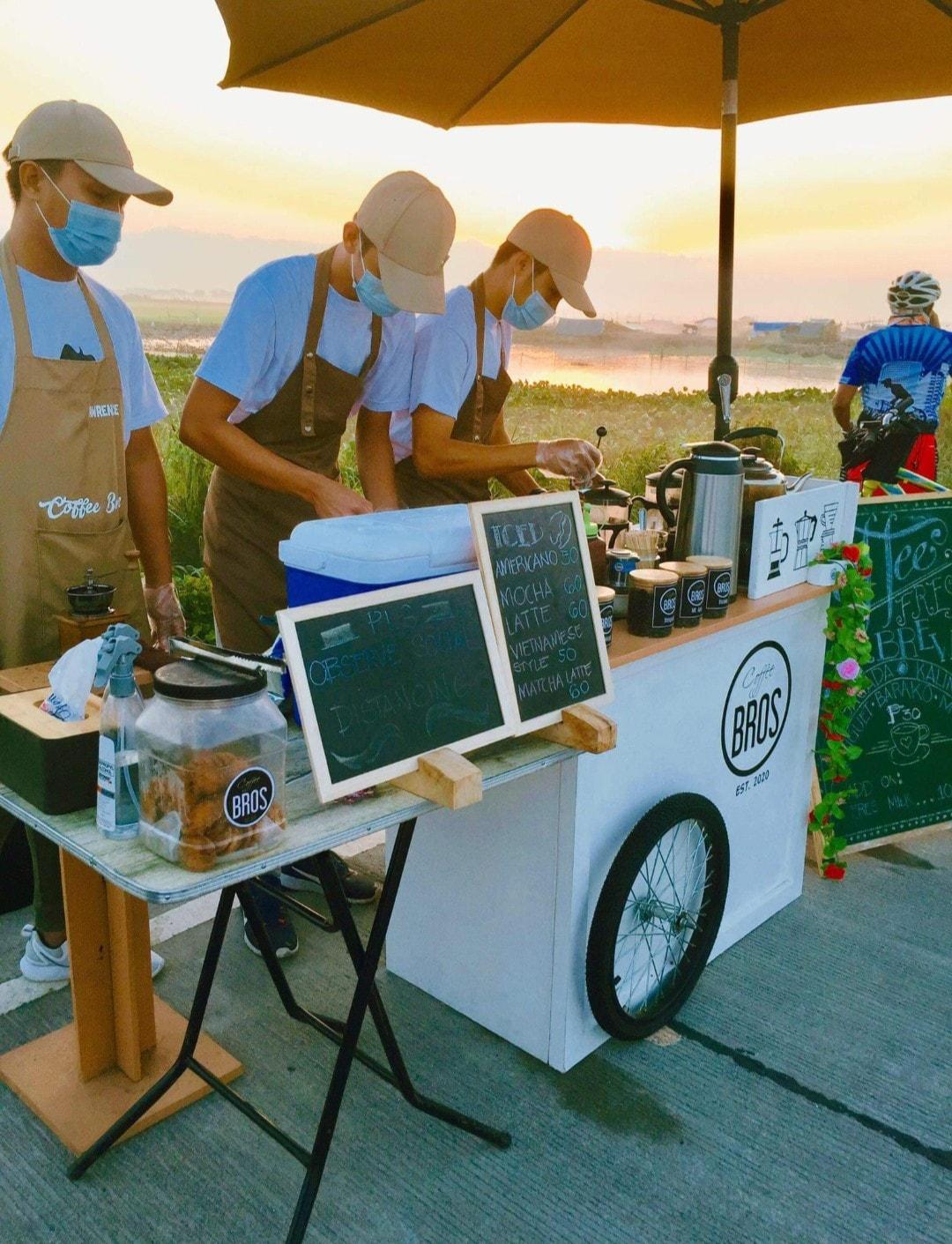 coffee stand: baristas making coffee