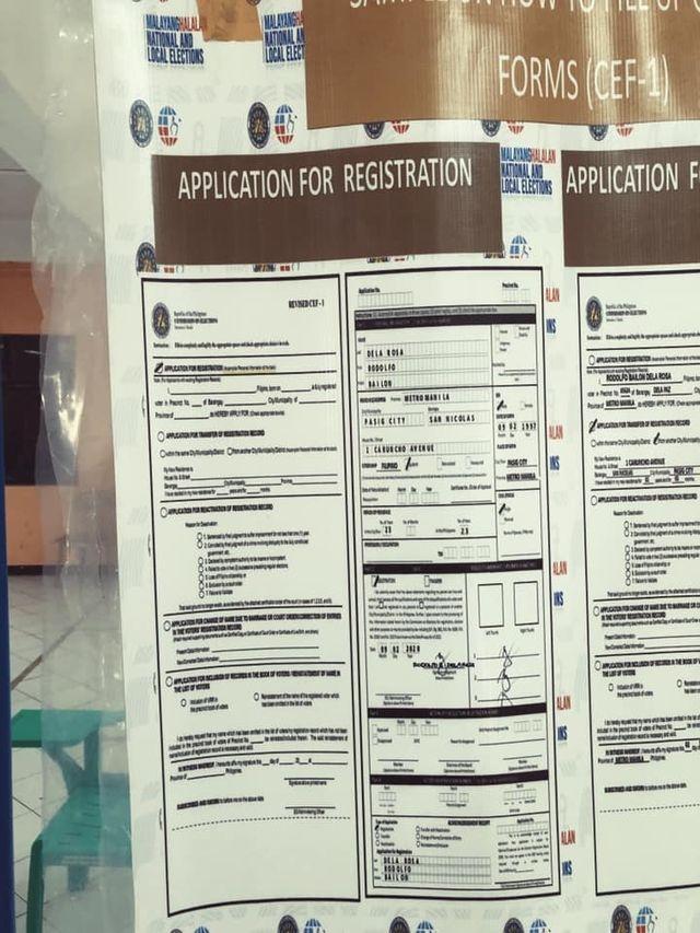 voter registration philippines form