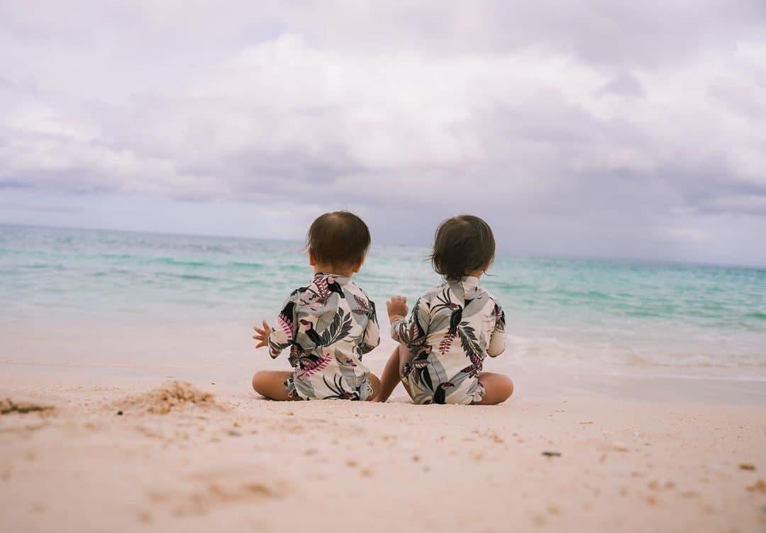 Dahlia And Thylane by the beach in Boracay Island