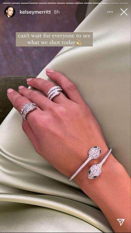 Kelsey Merritt featuring jewelry from her Instagram account.