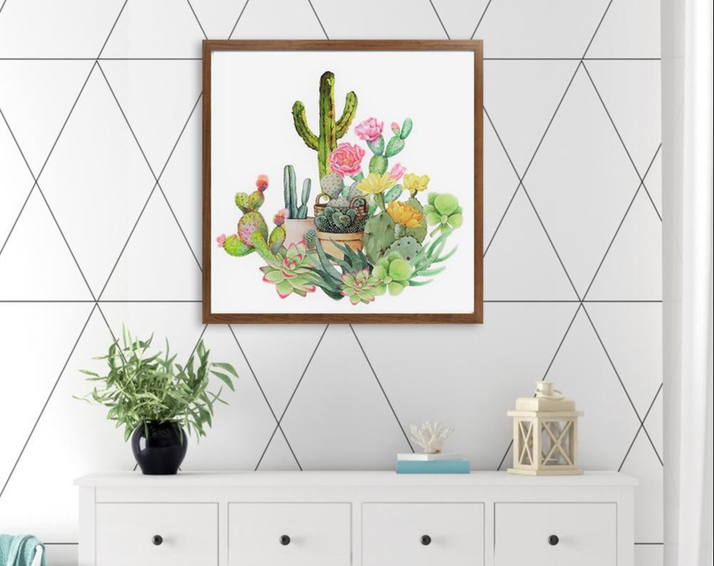 diamond painting kit: succulents