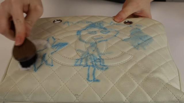 Chanel bag restoration: Clean the bag