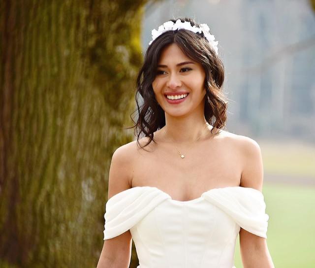 Dionne Monsanto's wedding look