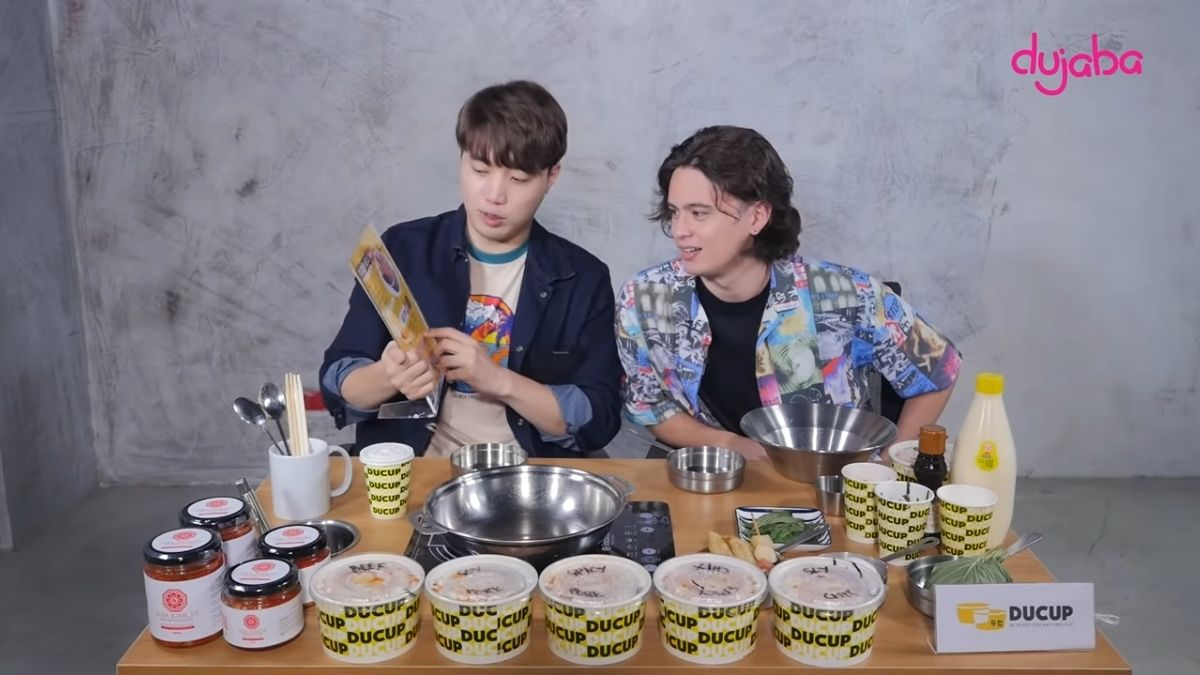 Ryan Bang and James Reid bonds over Korean food