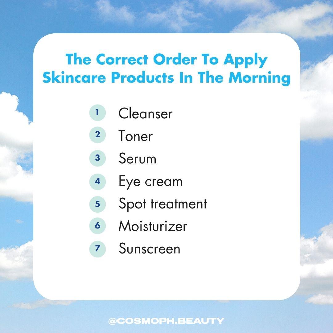 morning skincare routine order