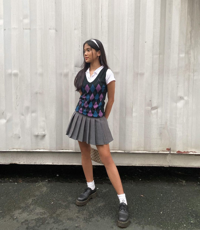 Tennis skirt outfit: Ashley Garcia
