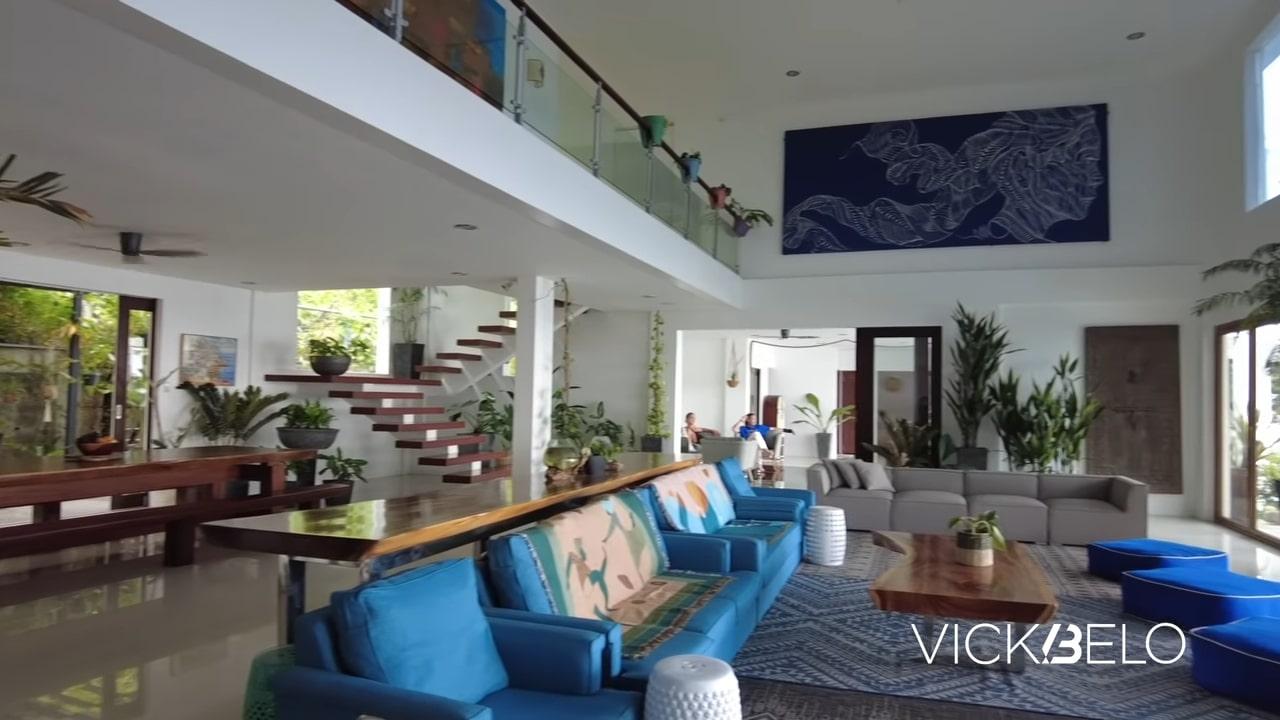 Piolo Pascual hilltop mansion tour: living room area