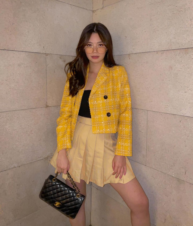 Tennis skirt outfit: Verniece Enciso