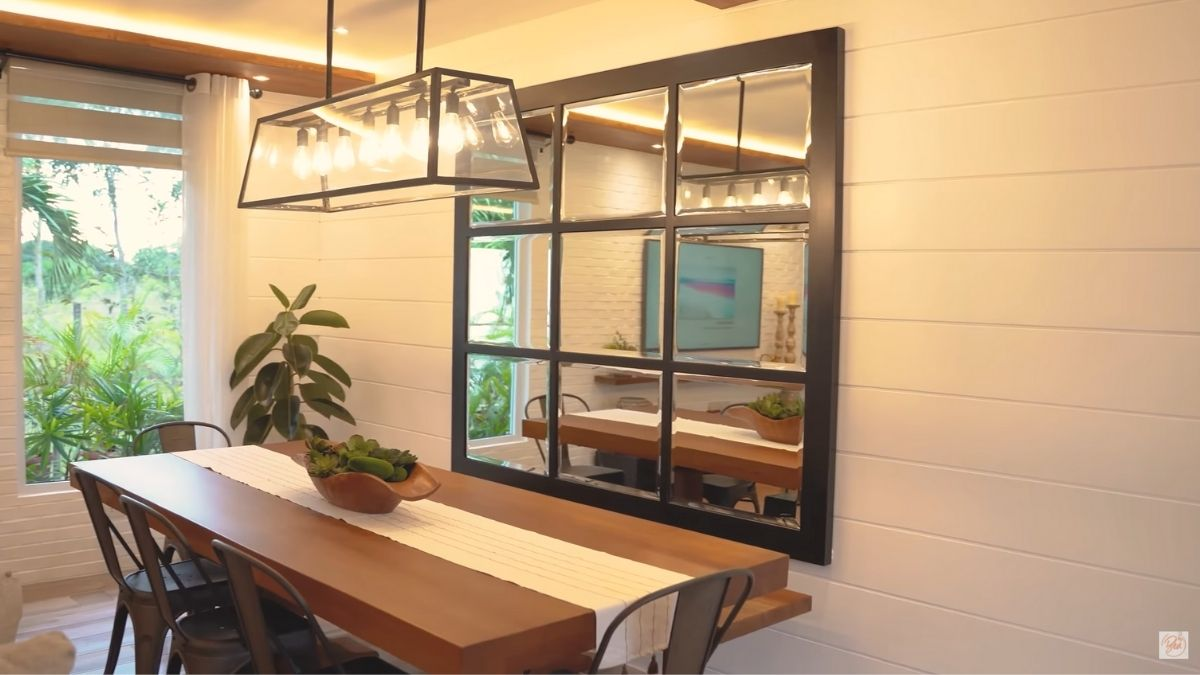 Bea Alonzo farm house tour in Zambales: dining room