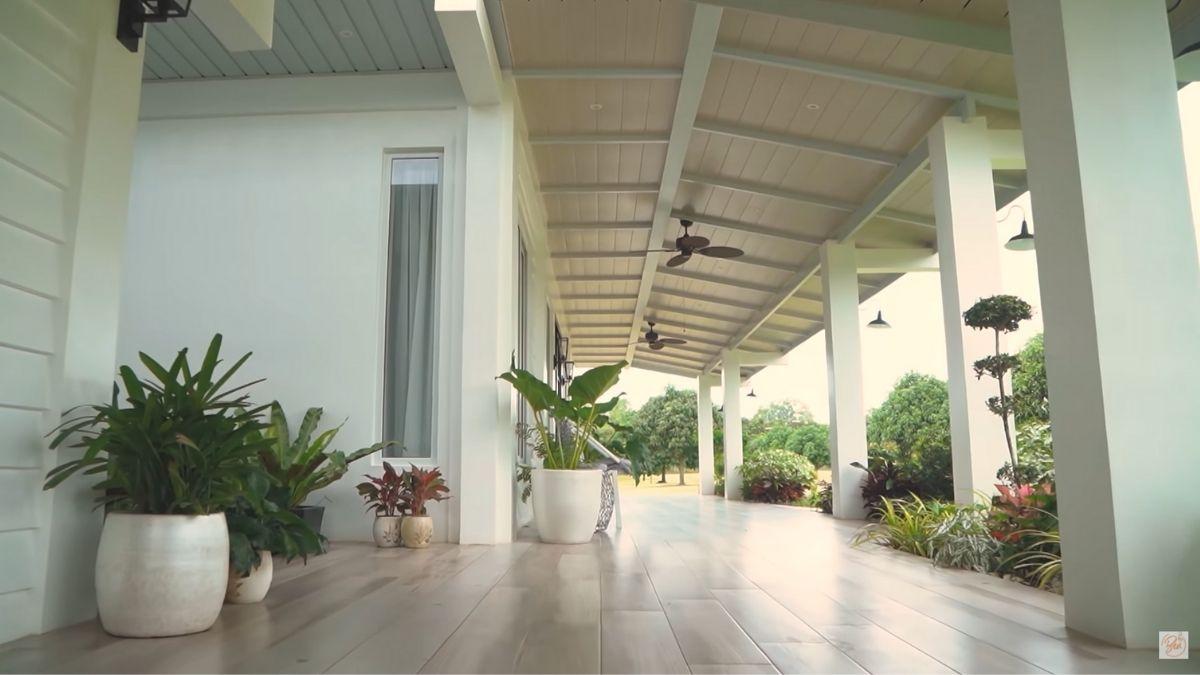 Bea Alonzo farm house tour in Zambales: patio area