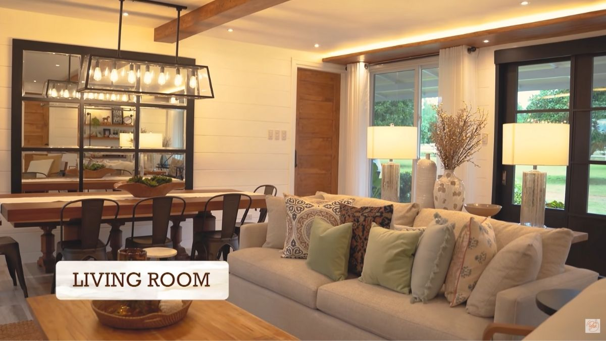 Bea Alonzo farm house tour in Zambales: living room