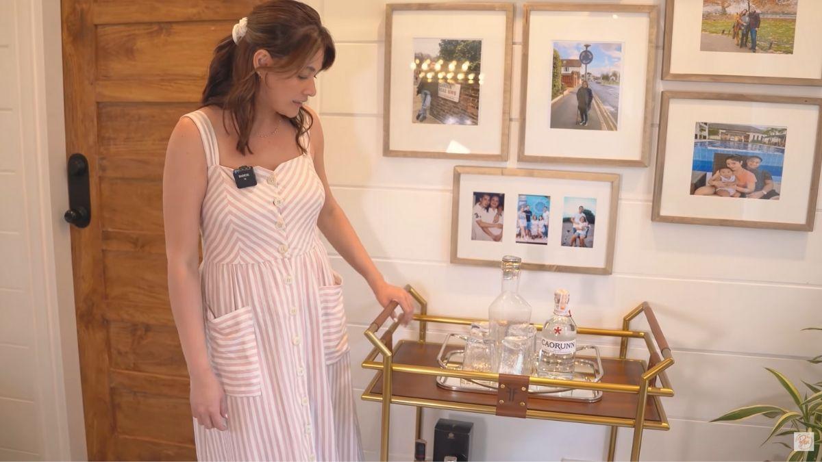 Bea Alonzo farm house tour in Zambales: bar cart