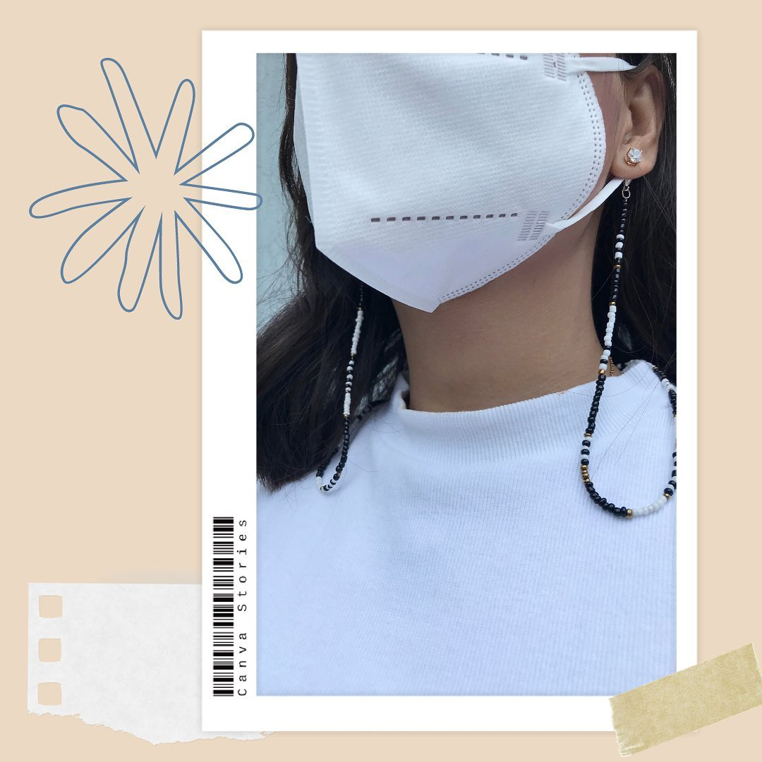Mask necklaces from IG store @extrahue