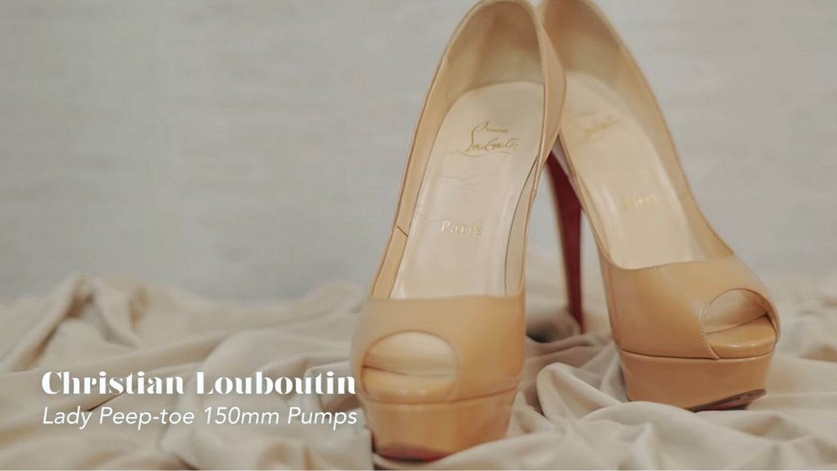 Kathryn Bernardo's designer shoe collection: Lady Peep-Toe 150mm Pumps by Christian Louboutin