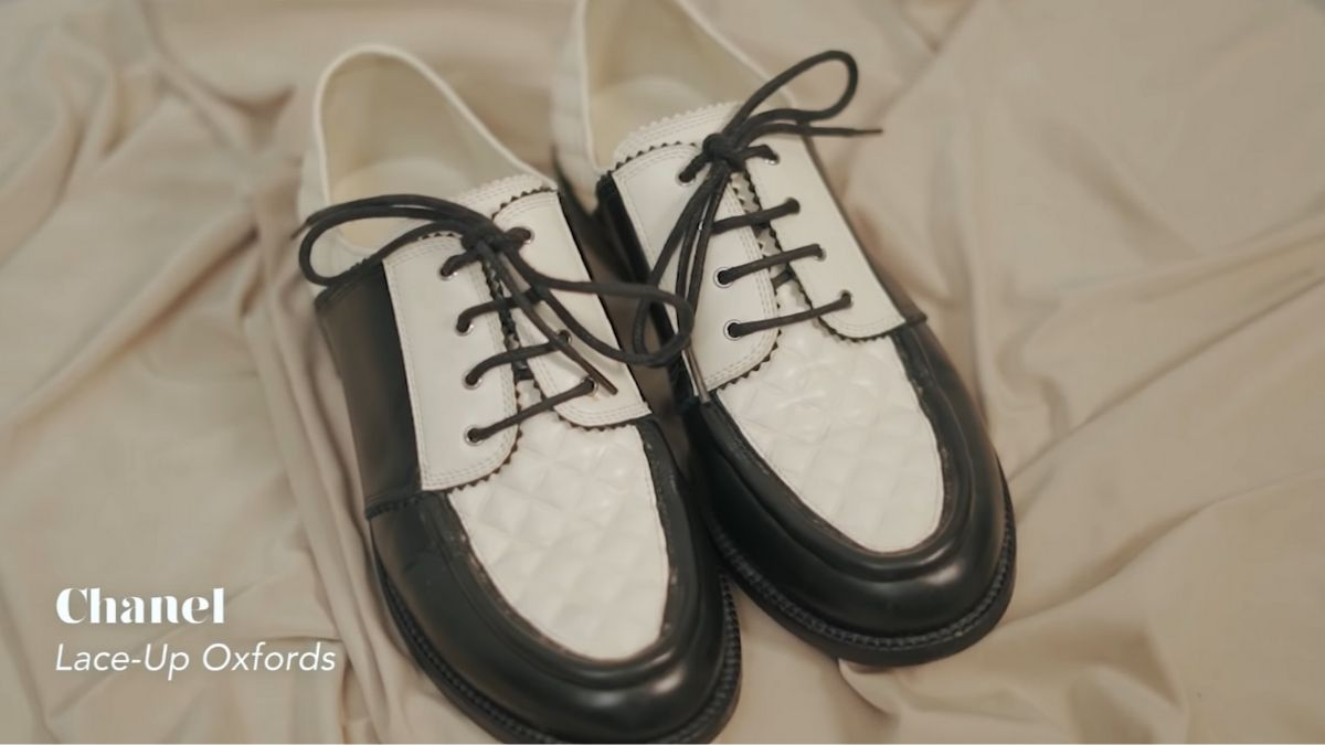 Kathryn Bernardo's designer shoe collection: Lace-Up Oxfords by Chanel